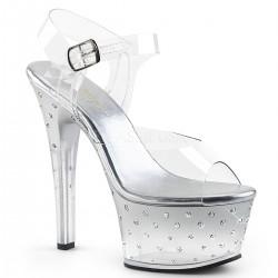 Sandale cu platforma transparenta papuci dansatoare ASPIRE 608 STD