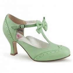 Pantofi cu toc mic retro pin up piele FLAPPER 11