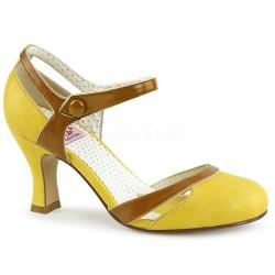 Pantofi cu toc mic retro pin up piele FLAPPER 27