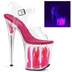 Sandale platforma roz de club FLAMINGO 808 FLM