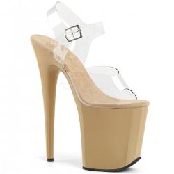 Sandale cu platforma inalta papuci de club FLAMINGO 808 Negru