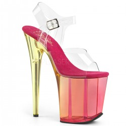Sandale cu platforma inalta papuci de club FLAMINGO 808 MCT