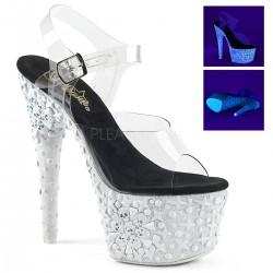 Sandale cu platforma inalta papuci de club ADORE 708 NSK