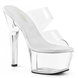 Saboti cu toc mediu papuci cu piele intoarsa comozi ASPIRE 602
