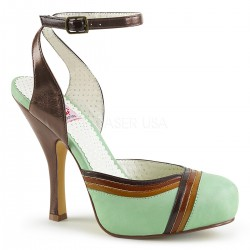 Pantofi pin up office toc mediu comozi rockabilly CUTIEPIE 02