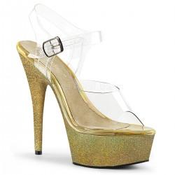 Sandale aurii marimi mari papuci animatoare DELIGHT 608 HG