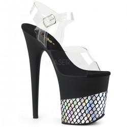 Sandale cu platforma inalta papuci de club FLAMINGO 808 HFN