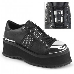 Pantofi stil gotic talpa lata metalic GRAVEDIGGER 02