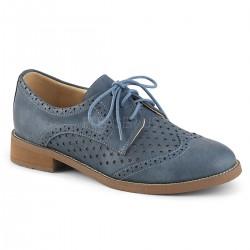 Pantofi fara toc oxford piele clasic HEPBURN 26