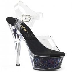 Sandale KISS 208 GF de mireasa cu toc mediu comode silicon pleaser