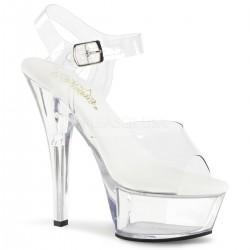 Sandale KISS 208 VL de mireasa marimea 42 cu toc mediu comode silicon pleaser