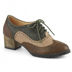 Pantofi RUSSELL 34 clasici oxford toc gros