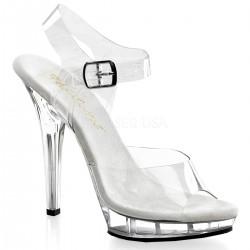 Sandale de mireasa transparente LIP 108