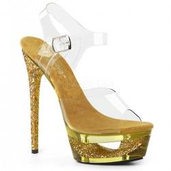 Sandale de mireasa cu toc inalt transparente ECLIPSE 608 GT