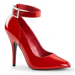 Pantofi rosii marimi mari stiletto comozi SEDUCE 431