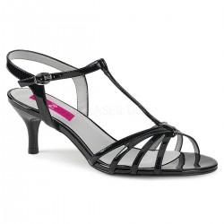 Sandale cu toc mic comode marimi mari marimea 43 KITTEN 06
