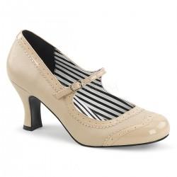 Pantofi comozi cu toc mic rosii marimi mari marimea 42 pin up rockabilly JENNA 06