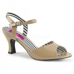 Sandale cu toc mic marimi mari marimea 42 JENNA 09