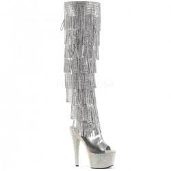 Cizme cu toc inalt papuci dansatoare sexy club BEJEWELED 3019 RSF 7