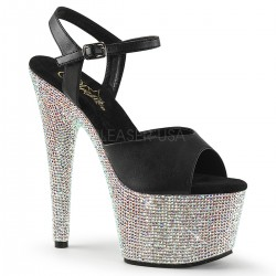 Sandale cu platforma inalta pietre papuci cu toc inalt dansatoare BEJEWELED 709 DM