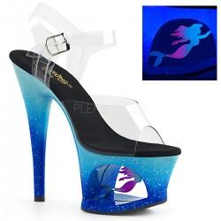 Sandale cu platforma inalta de dama papuci dansatoare cu toc inalt MOON 708 MER