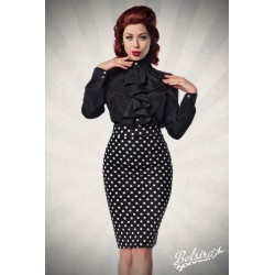 Fusta creion larga pin up retro rockabilly cu buline