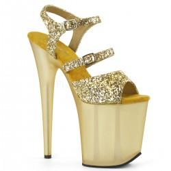 Sandale aurii cu platforma inalta papuci dansatoare dans la bara de dama FLAMINGO 874