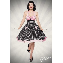 Rochie Vintage pin up rockabilly fusta larga roz