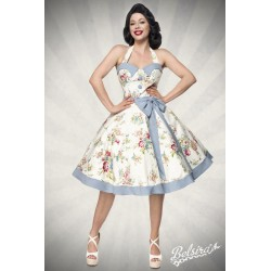Rochie Vintage pin up rockabilly fusta larga bleu