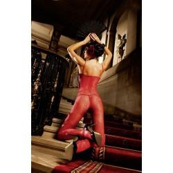Bodystocking dantela rosu 168