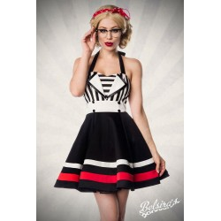 Rochie Retro vintage pin up fusta larga rockabilly