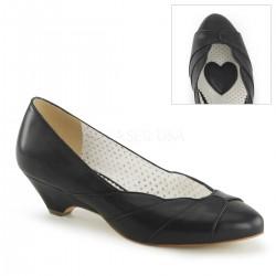Pantofi cu toc mic pin up retro rockabilly LULU 05