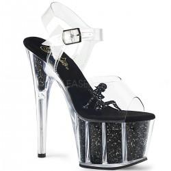 Sandale cu platforma inalta papuci cu toc inalt dansatoare ADORE 708 GTG