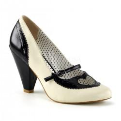 Pantofi pin up rockabilly retro toc mediu POPPY 18