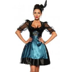 Costum oktoberfest rochie berar sort satin festivalul berii Dirndl 2596