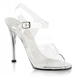 Sandale transparente concurs fitness toc mediu GALA 08