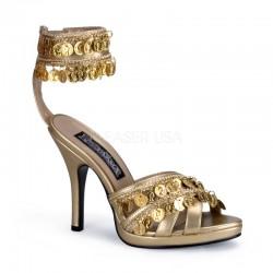 sandale GYPSY 03 aurii recuzita teatru stil tiganca