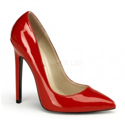 Pantofi cu toc inalt stiletto SEXY 20 rosu lac