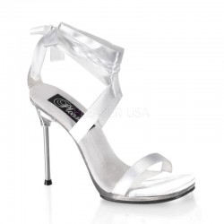 Sandale albe mireasa toc mediu CHIC 14
