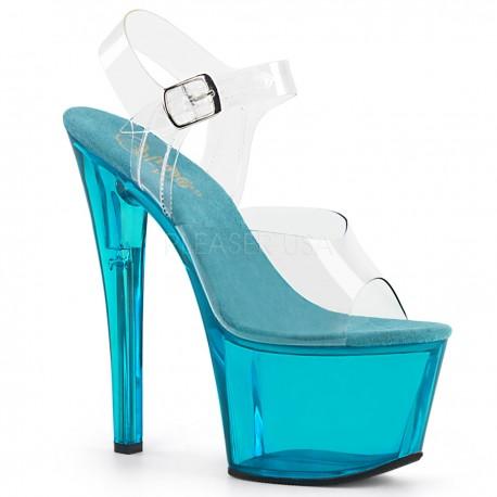 Sandale cu platforma transparenta papuci dans la bara SKY 308