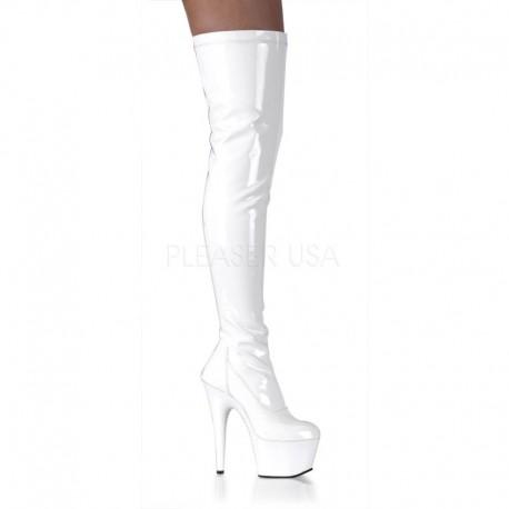 Cizme peste genunchi albe dansatoare cizme marimi mari ADORE 3000 Alb