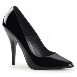 Pantofi marimi mari stiletto comozi toc mediu SEDUCE 420 Negru