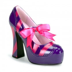 Pantofi teatru clovn cu toc gros mov KITTY 32