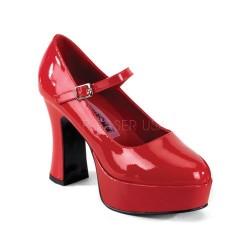 Pantofi rosii cu toc gros recuzita teatru MARYJANE 50