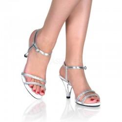 Sandale argintii cu toc mic marimi mari BELLE 316