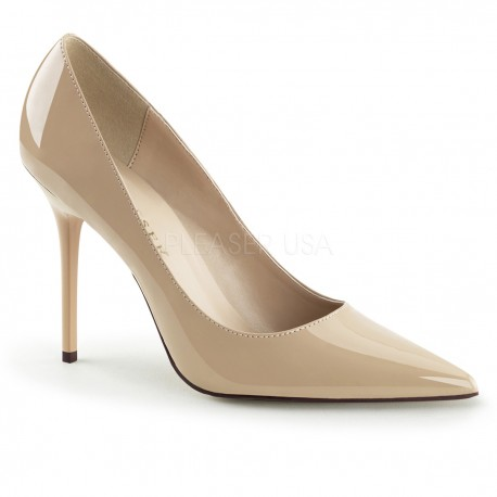 Pantofi crem toc mediu comozi CLASSIQUE 20