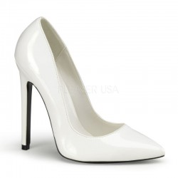 Pantofi stiletto toc inalt SEXY 20 Alb lac