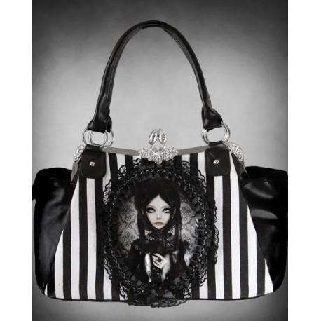 geanta stil gotic halloween Papusa Gri Lolita