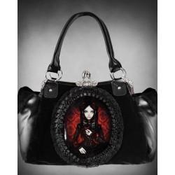 Geanta stil gotic halloween Papusa Rosu Lolita