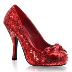 Pantofi paiete toc mediu rosii OZ 06